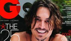 "Johnny Depp, shirtless, GQ's ""Most Stylish Man"""