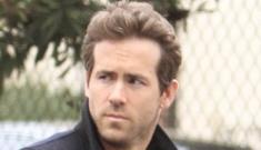 Ryan Reynolds walks around like he's posing for a magazine