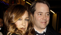Sarah Jessica Parker clings awkwardly to Matthew Broderick