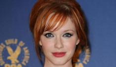Christina Hendricks busts out again, her husband defends her boobs