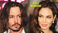 "Star: Angelina seduces Johnny Depp with red wine, ""acting method"""