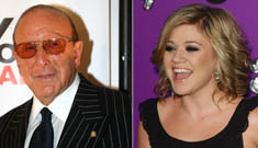 Kelly Clarkson and Clive Davis Making Up
