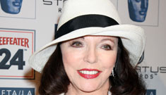 Joan Collins gives sexy aging tips, never mentions plastic surgery