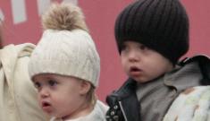 Angelina & Brad bring Knox & Vivienne out in Venice (update: silkies!)