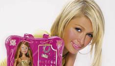 Paris Hilton styles a doll