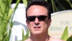 """Hank Azaria has strange, perky, pink moobs"" links"