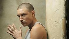 Lane Garrison watches Prison Break in prison