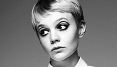 Carey Mulligan channels Twiggy, gushes about Shia LaBeouf