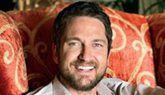 Gerard Butler shows off his pretty pink furniture in Architectural Digest