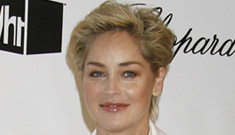 Sharon Stone wears a lucky rat's foot