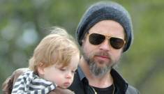 Angelina & Brad take the kids out for an Italian Easter