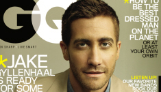 Jake Gyllenhaal's man-tanned GQ cover, talks about Heath Ledger