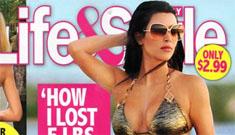 Kim Kardashian on the cover of L&S: her 'revenge body', 5lbs in 5 days