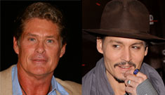 Did Johnny Depp give David Hasselhoff a barber chair? (update: no)