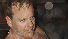 Kiefer Sutherland boozes it up, gets kicked out of London strip club