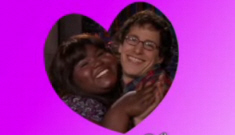 Gaby Sidibe is probably trying to fool around with Andy Samberg