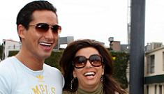 Mario Lopez gives Eva Longoria Cartier necklace for opening of Beso
