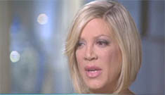 Tori Spelling had hundreds of thousands in credit card debt