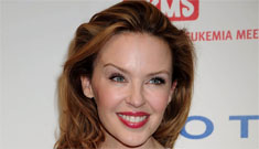 Kylie Minogue's cat-like face