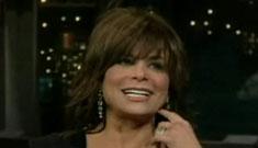 Letterman asks Paula Abdul if she's drunk