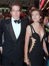 Liz Hurley and Hugh Grant in 1994