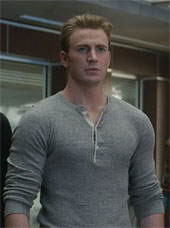 Chris Evans looking beefy as Captain America
