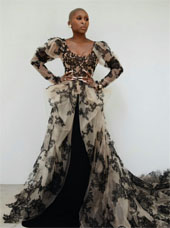 Cynthia Erivo in custom Vera Wang