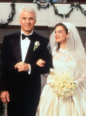 Steve Martin and Kimberly Williams-Paisley in Father of the Bride