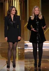 Screenshot of the Golden Globes