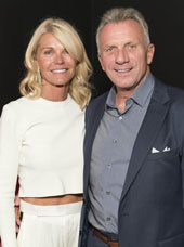 Joe Montana and his wife