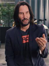 Keanu Reeves looking like a snack