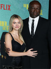 Leni Klum with her dad Seal