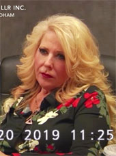 Screenshot of Deanne Stidham, founder of LuLaRoe, from the LuLaRich documentary