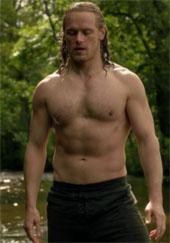 Sam Heughan shirtless