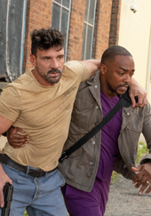 Frank Grillo as Abe and Anthony Mackie as Paul in Point Blank credit Netflix Press