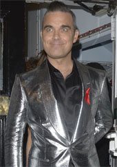 Robbie Williams with crazy eyes