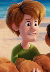 Young Shaggy in the new Scooby Doo movie